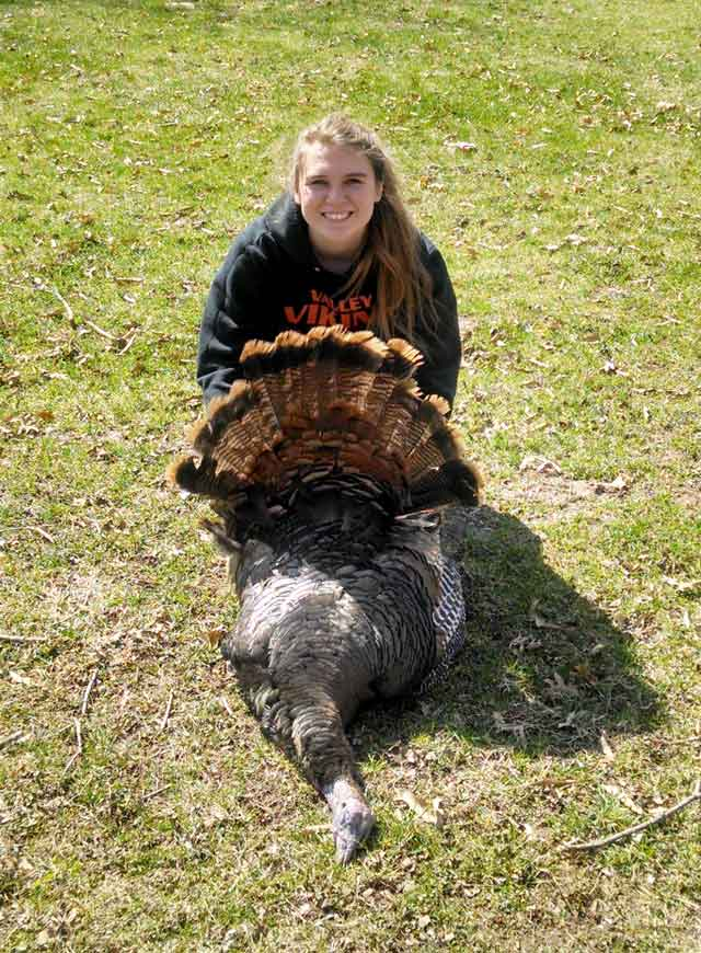 girl shot a 15 pound turkey at Fulton County on saturday.