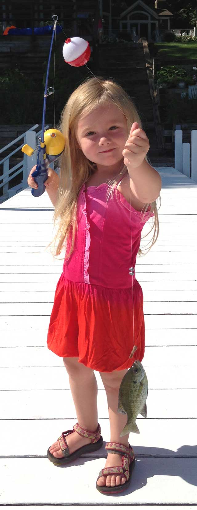 Adelyn Anderson of Rockford was 4 when she caught this bluegill