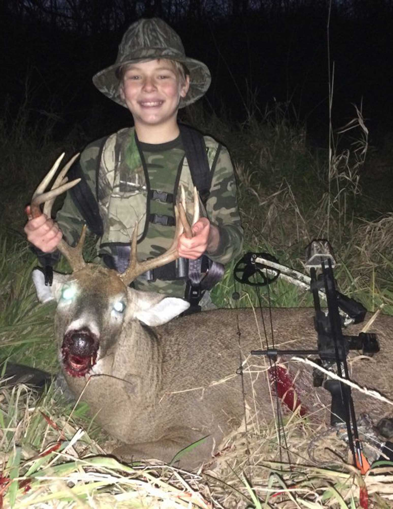 11 year old bowhunter
