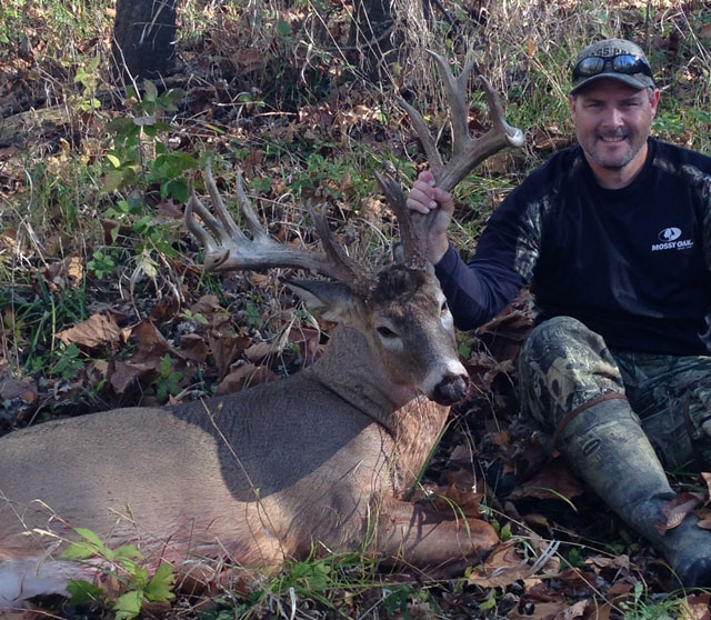 Bowhunter Jeff Morgan shot this 16-point Christian County buck just north of Kincaid on Nov. 11. An unofficial green score put the buck at 196 3/8.