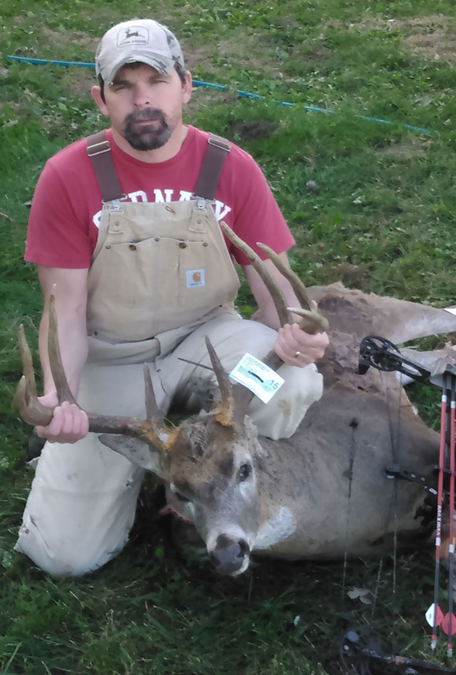 Bowhunter Ryan Naas of Morton shot this Knox County buck on Nov. 14. The buck had a 22-inch inside spread copy