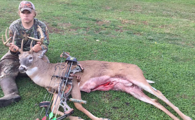 Bowhunter Shawn Wright of Cuba shot this Fulton County buck.