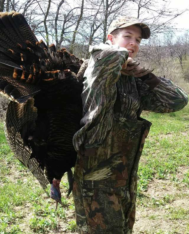 Braden McFall shot this 22-pound gobbler earlier this spring. The bird had a 9-inch beard and 3/4-inch spurs