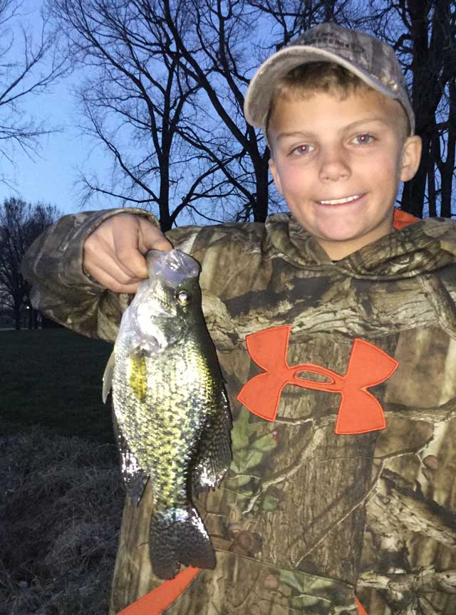 Damon Decker shows off a nice Fulton County crappie