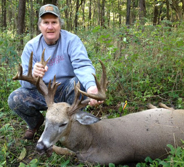 Dennis Griswold of Cornell shot this Boone and Crockett class buck in Livingston County on opening morning of the 2015 archery season. The buck measured 201 1/8 inches