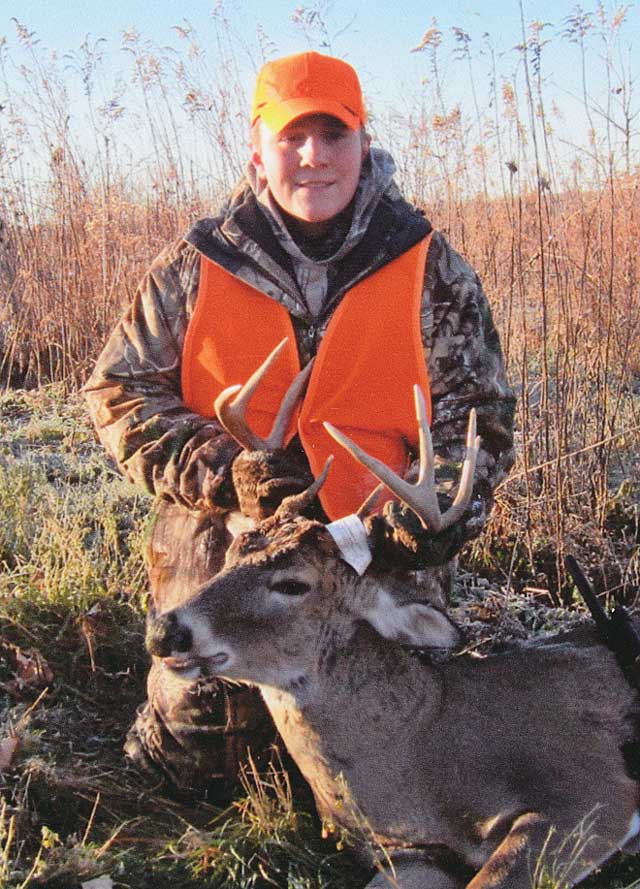 Kyle Divan of Toluca, 14, shot this Marshall County buck during Illinois shotgun season.