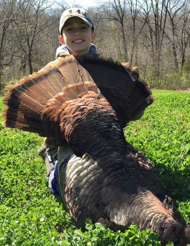 Easton Snyder shot this 24.09-pound gobbler during the first youth season in Brown County