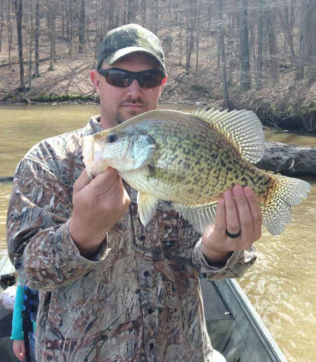 Eric Ralls of Anna caught this 2.63-pound crappie at Kinkaid Lake on March 29