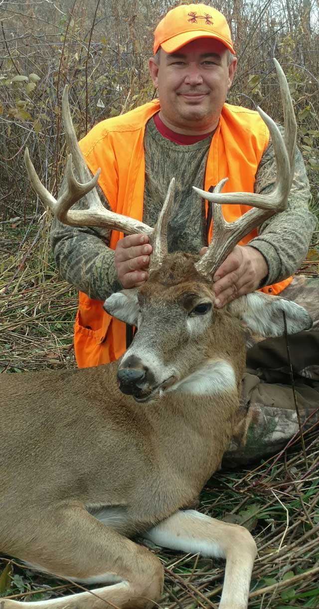 Heartland Outdoors writer Chris Maring shot this buck during the first shotgun season in Illinois