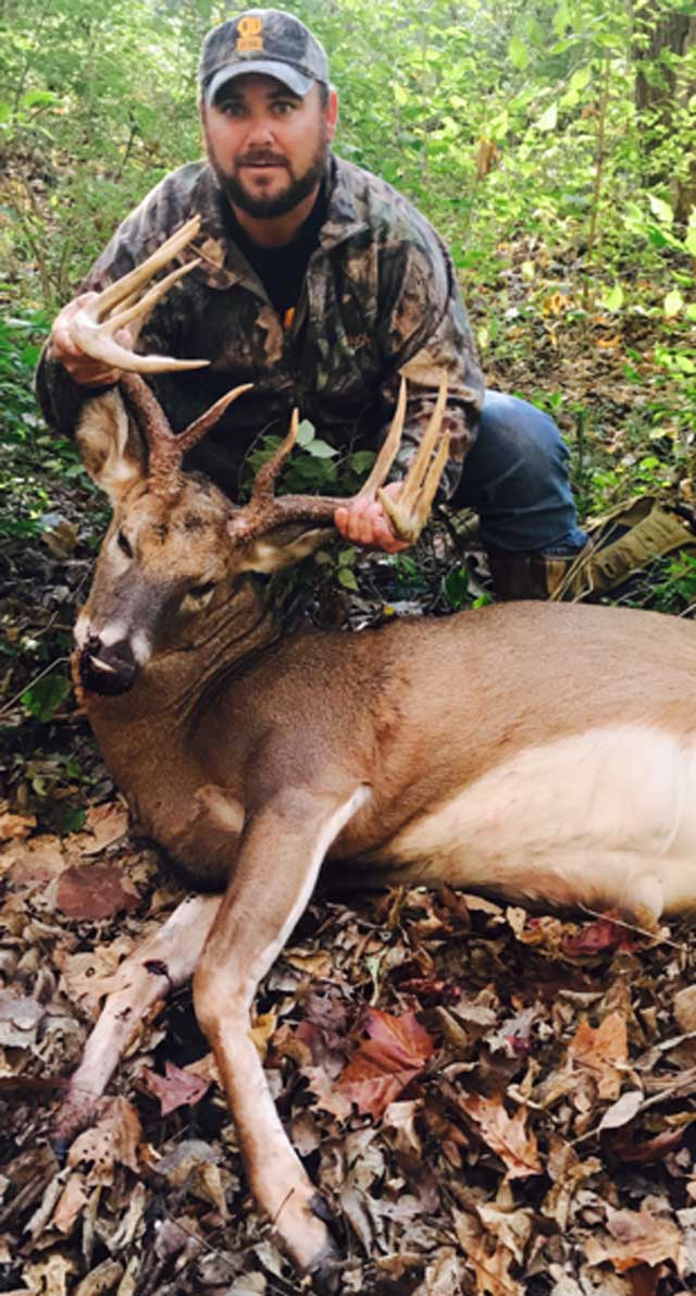 Jason Uribe shot this 11 point buck in LaSalle county on November 6.