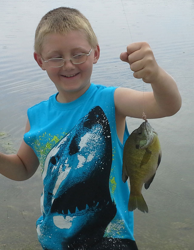 Jayce Washam caught this bluegill this spring while fishing with his grandfather, Rick Washam.