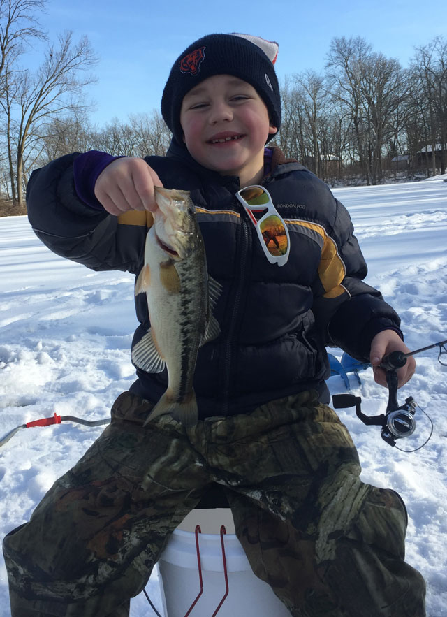 Joe Cheever on his first ever ice fishing trip outside of Lexington a couple weeks ago