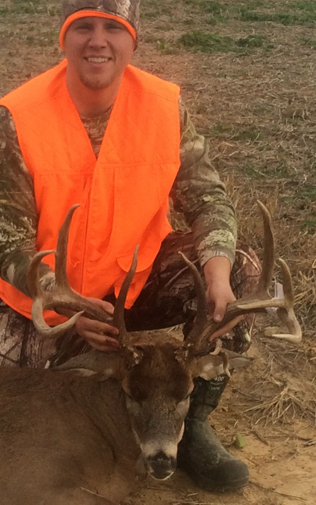 Kyle Fischer shot this Edwards County 12-point buck during the first shotgun season