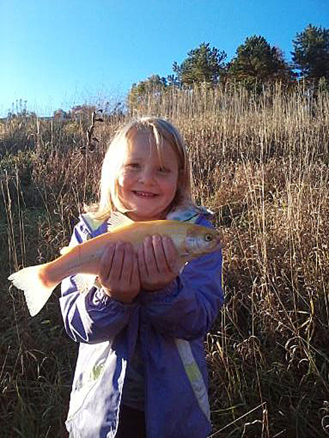 Olivea Featherlin started off the 2014 Illinois trout season with this beauty from Argyle Lake.