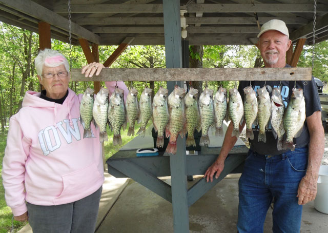 Pat and Denny Brown had a good spring trip on Mark Twain Lake