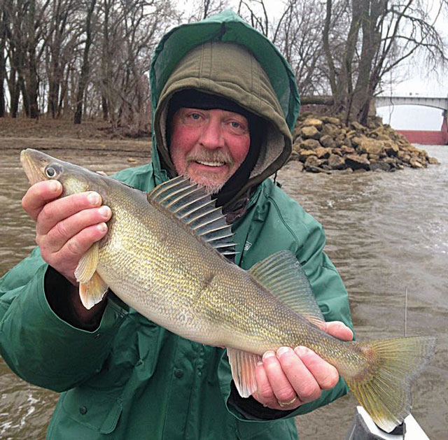 Robert DeLashmutt caught this 26-inch walleye while fishing on Pool 14 of the Mississippi River in northeast Iowa's Clinton County on May 13 this spring. The fish qualified for an Iowa Master Angler award.