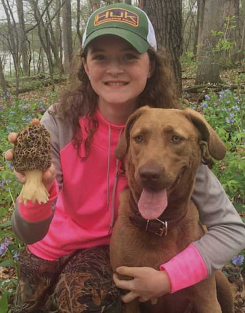 Emily Wade with Retriever