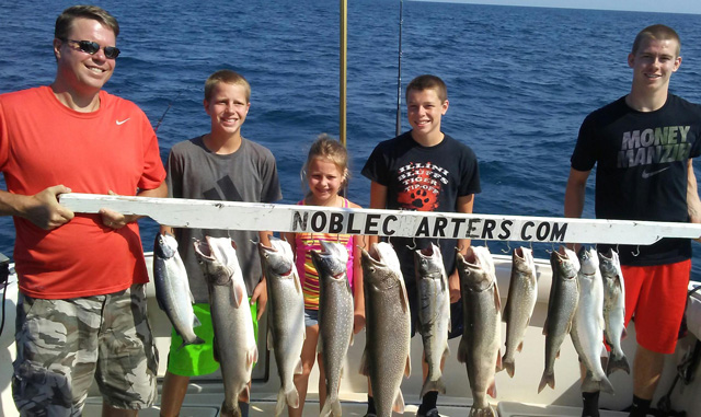 The Marincic family of Elmwood had a good outing with Dale Florek and Noble Charters last summer on Lake Michigan