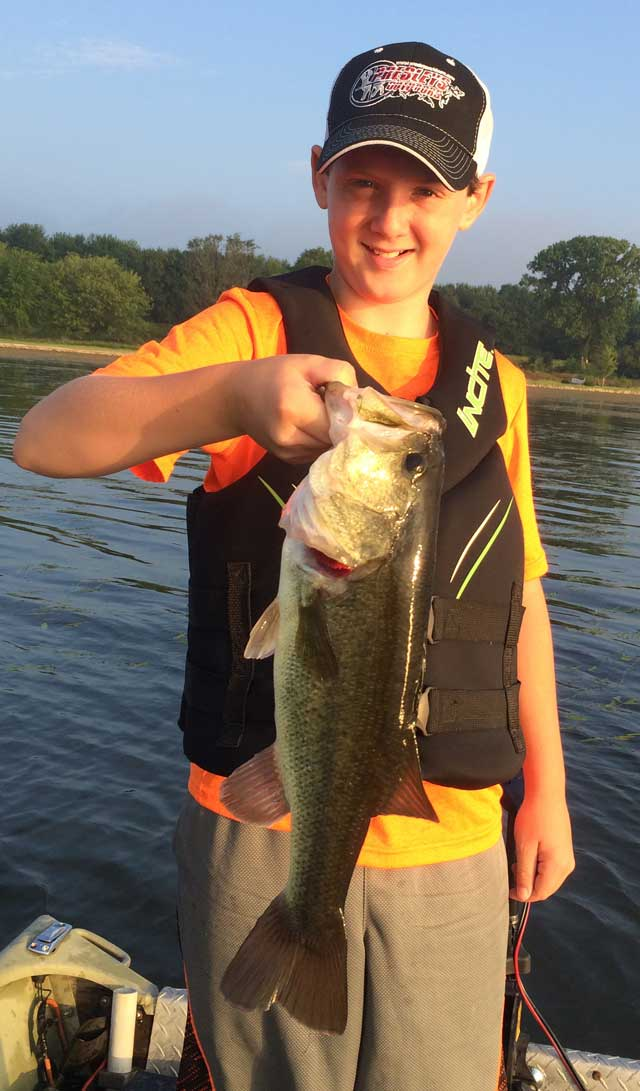 Vance Roberts, 12, of Glasford caught this nice Fulton County bass.