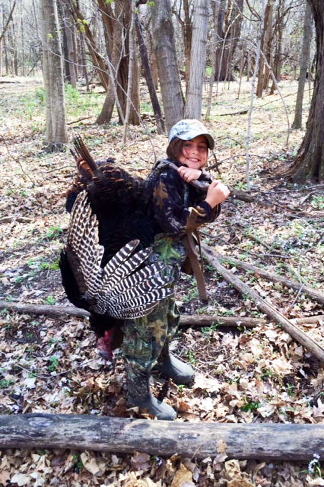 man helped her dad harvest this Knox county turkey during 2015 season. Illinois