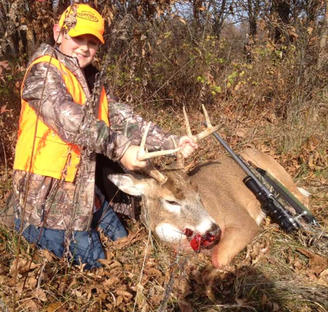 Beau Shaffer took his first buck this year!!