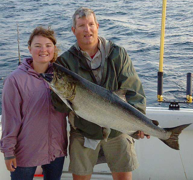 Paul Center and 26-pound king salmon