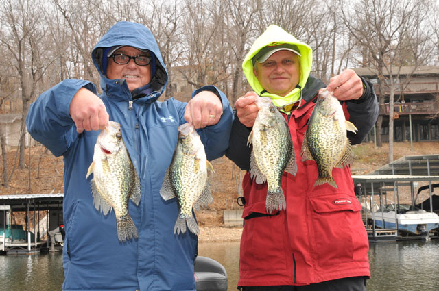 Heartland outdoors scattershooting crappie biting in for Crappie fishing lake of the ozarks