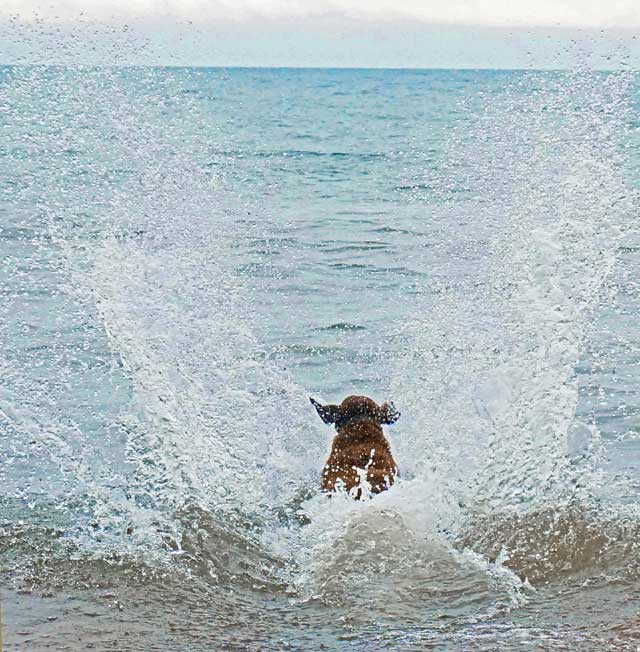 Benelli making a HUGE water entry into the swells of Lake Superior.