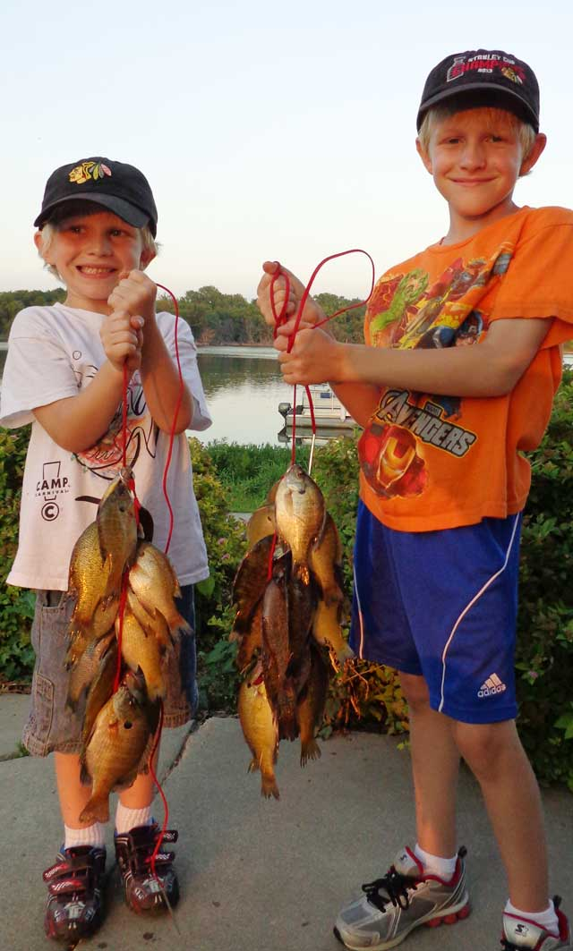 Bluegills n kids