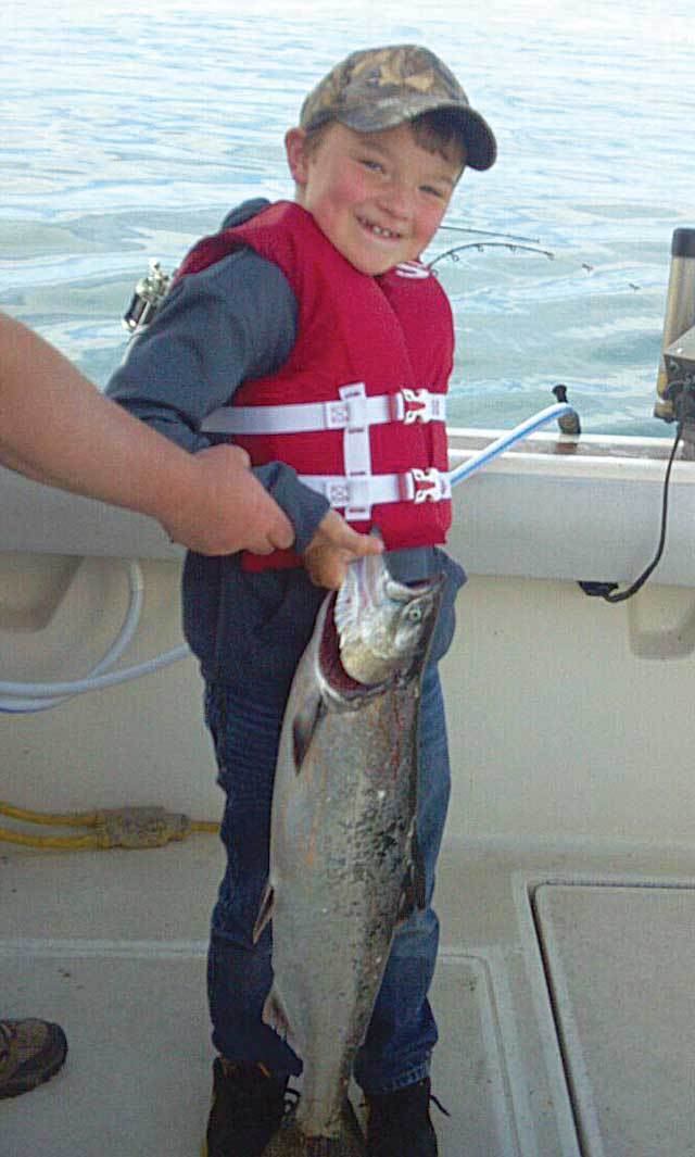 oglesby kid with salmon