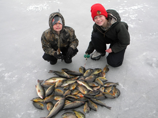 Kam and Eli Stevenson Ice Fishing