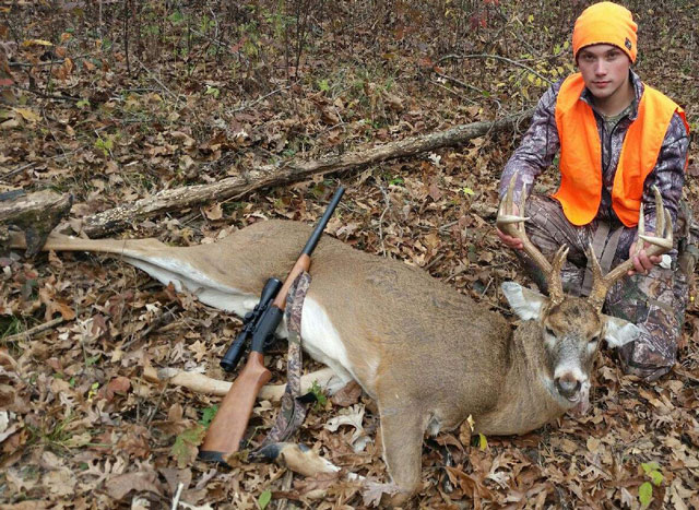 Trenten Brinkley's Fulton county 12 pointer was shot with his 20 gauge on November 18, 2016.